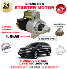 FOR HONDA CRV 2.2 iDTEC 4WD AWD STARTER MOTOR 2007-ON BRAND NEW 10 TEETH 1.8kW