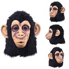 Holloween.Costume Funny Monkey Head Latex Mask Full Face Adult Mask Breathable