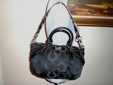 Auth Coach Madison Sophia Dotted OP Art Satchel Handbag Purse 15935 Black $298
