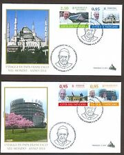 Vatican City Sc# 1598-1601, Journeys of Pope Francis in 2014, First Day Cover