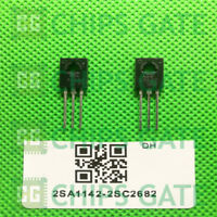 20 PAIRS Transistor NEC TO-126 2SA1142/2SC2682 A1142/C2682