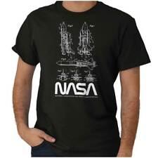 NASA Space Shuttle Rocket Science Astronaut Womens or Mens Crewneck T Shirt Tee