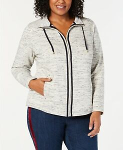 Charter Club Women's Plus Size Space-Dyed Jacket Size 2x