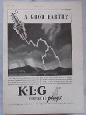 1946 KLG Spark Plugs Original advert