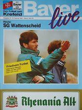 Program 1992/93 Bayer 05 Uerdingen - Sg Wattenscheid