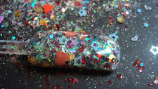 glitter mix acrylic gel nail art    CHILD'S PLAY my little 4 year old made it!