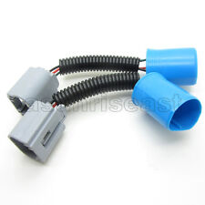 2 x 9007 Male to H13 Female Socket Converter Cable Harness Connector Adapter