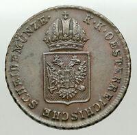 1816 AUSTRIA Emperor FRANZ Francis II OLD Antique 1 Kreuzer Austrian Coin i84907