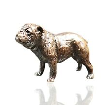 More details for british - english bull dog bronze miniature sculpture - butler & peach 2086