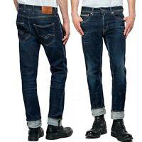 REPLAY jeans da uomo taglia W34 GROVER straight fit 1 year vintage stretch MA972