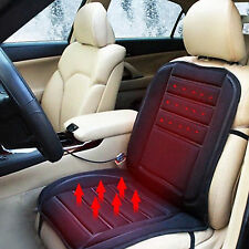 Universal Car Heated Back Massage Seat Cover Pad Cushion Heating Warm Winter 12V