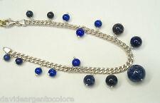 Bracciale in Argento 925 con Pietre sintetiche blu - Braccialetto -