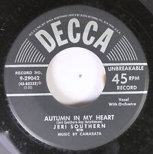 50'S & 60'S 45 Jeri Southern - Autumn In My Heart / That Ole Devil Called Love O