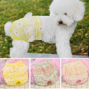 Cute Pet Dog Sanitary Pants Washable Menstrual Diapers Pants for Female Girl Dog