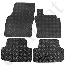 Skoda Octavia MK3 Rubber Car Mats 2013 onwards Tailored Black 4pc Floor Mat Set