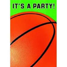 AMSCAN - Lot 8 Cartes invitation + enveloppes Basketball - Basket