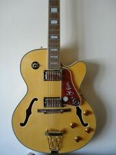 Joe Pass Epiphone Emperor II guitar blonde maple