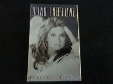 OLIVIA NEWTON JOHN I NEED LOVE ULTRA RARE SEALED CASSETTE SINGLE!