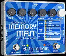 EHX Electro Harmonix STEREO MEMORY MAN with HAZARAI Guitar Effects Pedal