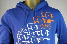 DC SHOES MEN'S BLUE PULL-OVER HOODIE/SWEATSHIRT W/ LOGO size X-Large / XL