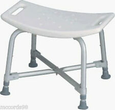 Medline Heavy Duty Shower Bath Bench Chair Seat Stool - 550 lb. weight capacity.