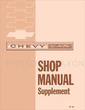 1964-1965-1966 Chevy Van Shop Manual G10 Supplement Chevrolet Repair Service