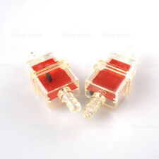 2pcs Universal 6MM Fuel Oil Filter Motorcycle Pit Dirt Bike Scooter Red Color