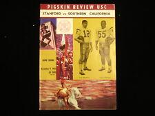 November 9, 1963 Southern California vs. Stanford Football Program