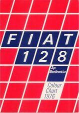 FIAT 128 3P BERLINETTA Exterior COLORI 1976 ORIGINALE UK vendita foglio / CARD