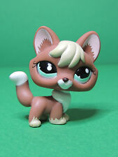 #1126 Renard Reddish Brown Fox aqua eyes LPS Littlest Pet Shop Figure Figurine