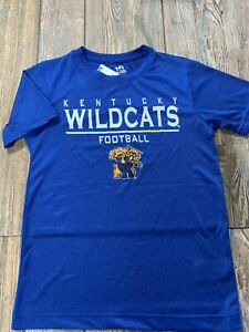 NWT Boys Kentucky Wildcats Football Short Sleeve Performance Logo Shirt Small
