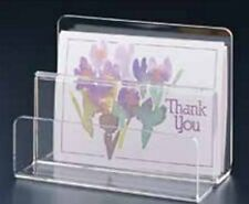 High Quality Clear Acrylic Letter, Paper Organizer 2 Slots, Home & Office Use
