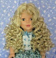 Tallina's TA3 Light Blond Full Cap Doll Wig Size 12 Full, Long, Curls, Beautiful