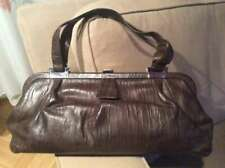 Vintage Ledertasche, mid century Handtasche, braun, groß, Tasche in Baguette