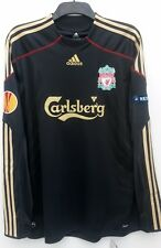Liverpool Away Long Sleeve Europa shirt 2009 2010 Large BNWT 18 Kuyt