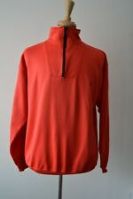 FRED PERRY MENS RED LONG SLEEVE ZIP JERSEY TRACK TOP SIZE L