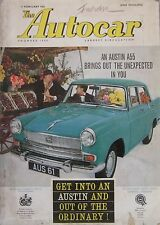 Autocar magazine 17/2/1961 featuring Fiat Giardiniera road test, Triumph Herald