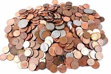 Lot 100 coins from England, United Kingdom, Great Britain Penny Shilling Pence