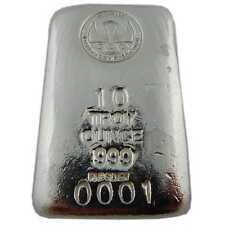 "Hand Poured 10 oz Silver Bar ""Loaf"" .999 Fine Silver | ShinyBars"