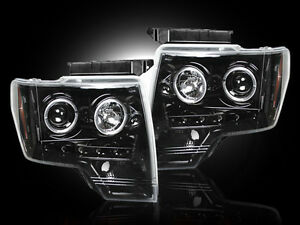 2009-2014 Ford F-150 & Raptor SVT RECON  Projector CCFL Halo Headlights