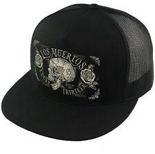 55aac25e4a223 Lucky 13 Dead Skull Tattoos Goth Punk Biker Trucker Snapback Cap Hat Lcsb5ds