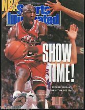 Sports Illustrated 1990 Chicago Bulls Michael Jordan NBA Playoffs No Label Exc.
