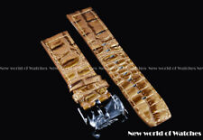 Invicta Genuine Leather 24MM Russian Diver Strap Brown Snake Skin Color - New