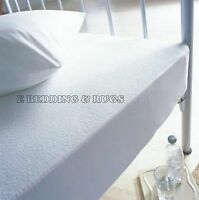New Waterproof Terry Towel Mattress Protector Fitted Sheet Bed Cover All Sizes