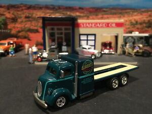 1:64 Hot Wheels LE Elwood's Garage 1938 38 Ford COE Green Flatbed Car Hauler