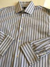 Banana Republic Men's 17.5 XL French Cuff Striped Long Sleeve Cotton Dress Shirt