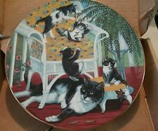 """Country kittens """"just for the fern of it"""" collector plate 1988 mint 0049"""