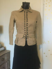 See By Chloe Button Up Fitted Military Riding Jacket Top