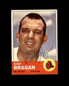 Bobby Bragan Hand Signed 1963 Topps Milwaukee Braves Autograph