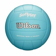 New listing WILSON SOFT PLAY OUTDOOR VOLLEYBALL OFFICIAL SIZE, BLUE *DISTRESSED PKG